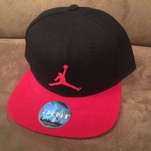 Black Red Air Jordan Jumpman Nike Hat Men's Sports